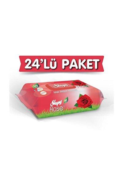 Gül Kokulu Islak Havlu 24x90 Lı 24 Paket 2160 Yaprak