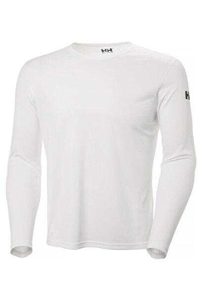 Tech Crew Erkek Uzun Kollu T-shirt Beyaz