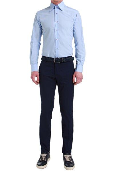 P 1058 Slim Fit Lacivert Spor Pantolon
