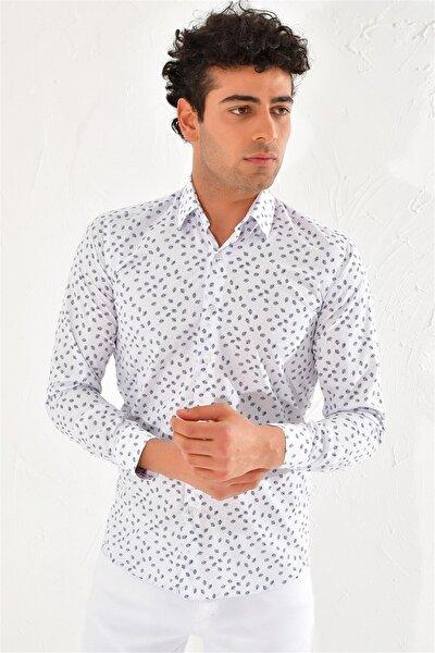 Gk 591 Slim Fit Beyaz Klasik Gömlek