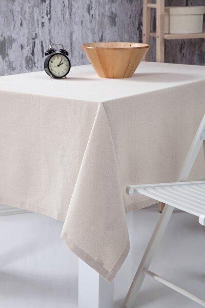 Düz Keten Otantik Masa Örtüsü 160x220 Cm