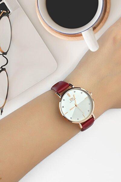 Dba1022 Kadın Kol Saati Deri Kırmızı