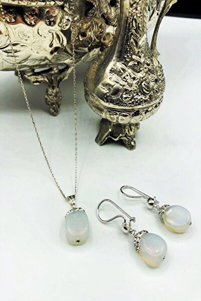 Dr Stone Harem Koleksiyonu Aytaşı El Yapımı 925 Ayar Gümüş Set Gdr15