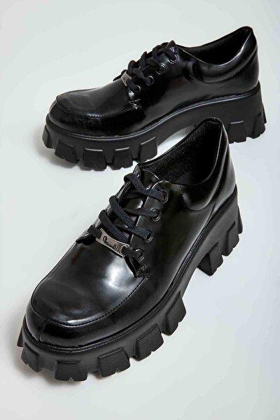 Siyah Açma Kadın Casual Ayakkabı M0770200074