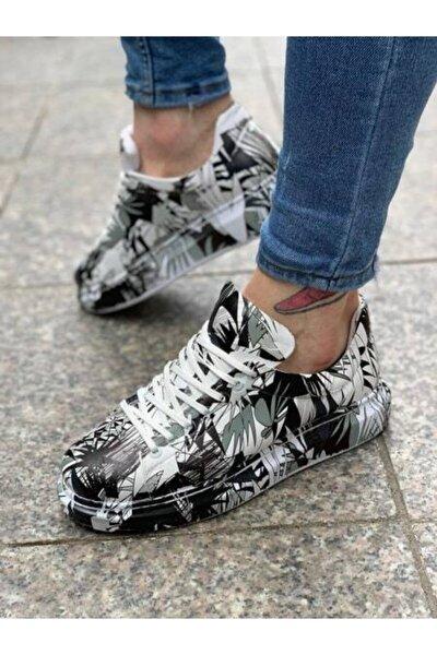 Erkek Siyah Desenli Ayakkabı Ch255 Bt