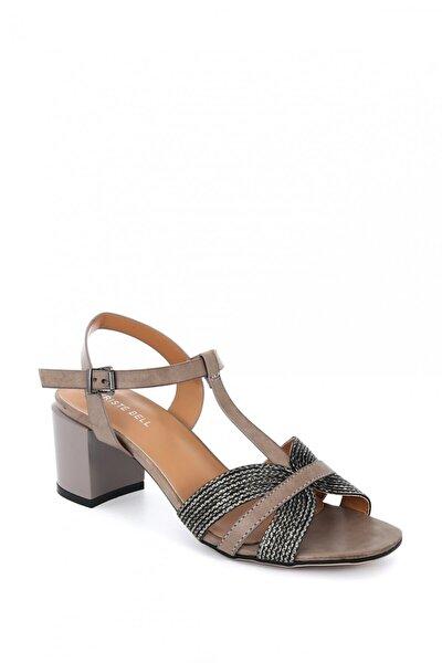 Kadın Deri Kısa Topuklu Ayakkabı