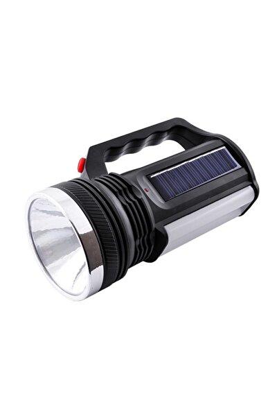 2836 T Güneş Enerjili Şarjlı Aydınlatma Cihazı 1w+16 Led Çift Yönlü El Feneri