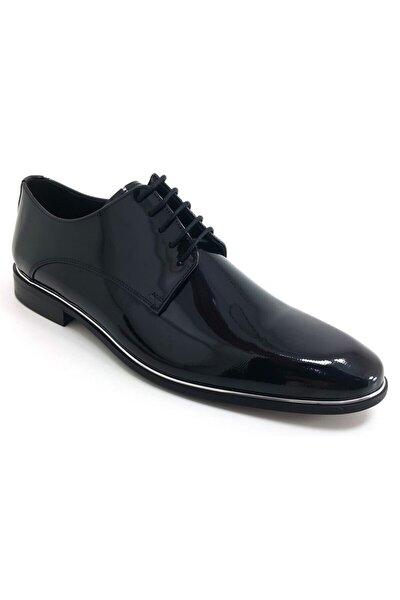2140 19k Klasik Erkek Ayakkabı-siyah Rugan