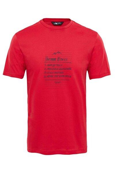 T92s7z682 Kırmızı Erkek Kısa Kol T-Shirt 100403263