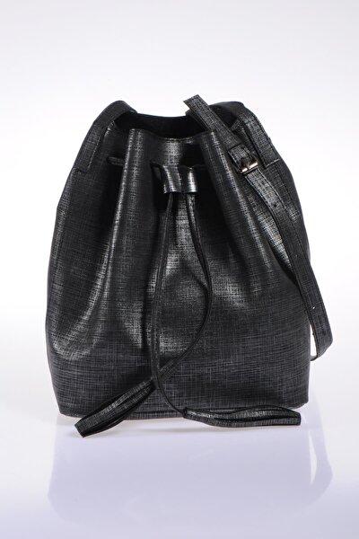 Luxury Sg1867 Siyah Simli Kadın Omuz Çantası