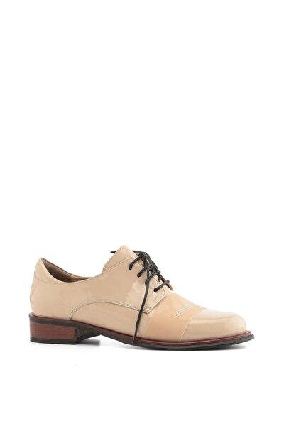 File Bayan Oxford Ayakkabı Pudra