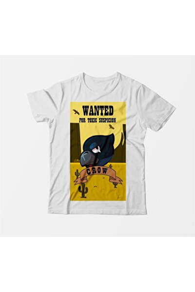 Brawl Stars Wanted Crow Çocuk Beyaz Tişört
