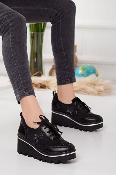 Hayley Ortopedik Siyah Spor Ayakkabı