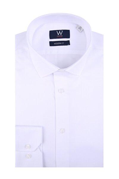Beyaz Klasik Easy Iron Gömlek