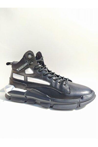 20k304 Bilek Boy Yüksek Taban Deri Spor Erkek Ayakkabı