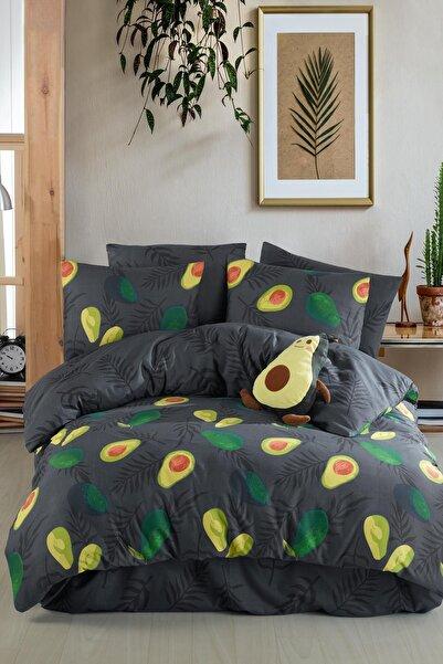 Avocado Dark %100 Pamuk Çift Kişilik Avakado Nevresim Takımı