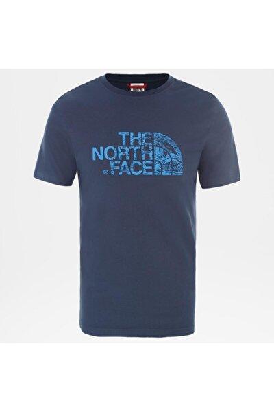 M S/S WOODCUT DOME EU Mavi Erkek T-Shirt 100576529