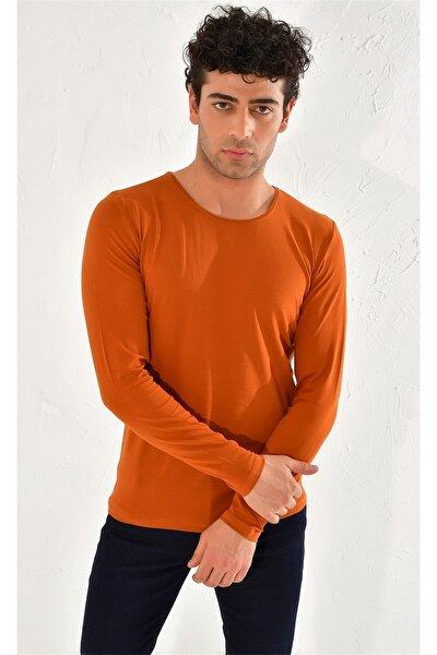 Ts 754 Slim Fit Kiremit Spor T-shirt
