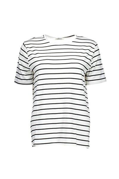 Beyaz Kadın Örme Tshirt