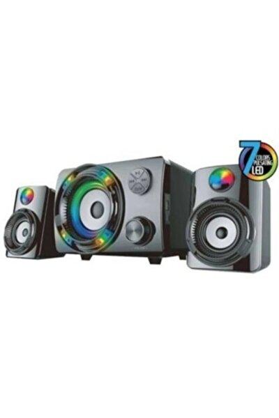 2+1 Oyuncu Ses Sistemi,7 Renkli Led Değişimi Bluetooth Hoparlör