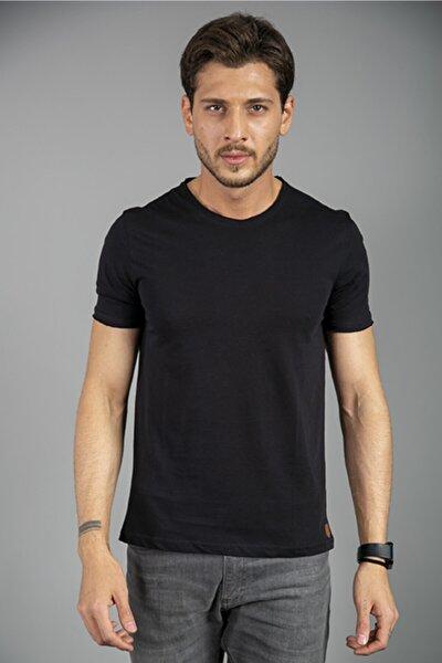 %100 Pamuk Bisiklet Yaka T-shirt