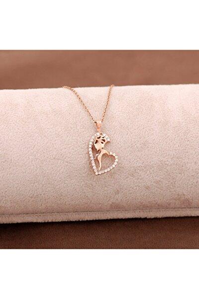 Anne Sevgisi Rose Gümüş Kolye 3649