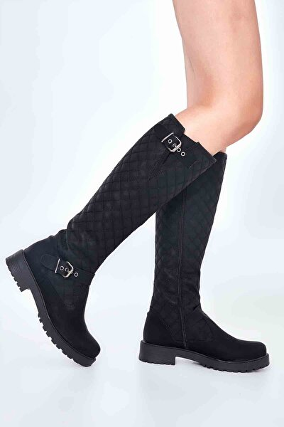 Siyah Zümrüt Kadın Çizme