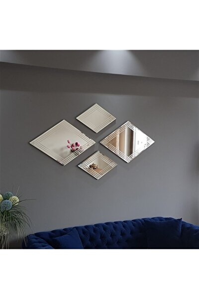 - 4 Lü Dekoratif Baklava Ayna A402f