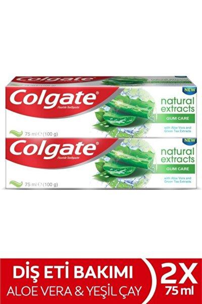 Natural Extracts Aloe Vera Ve Yeşil Çay Özlü Diş Eti Bakımı Diş Macunu 2 X 75 ml