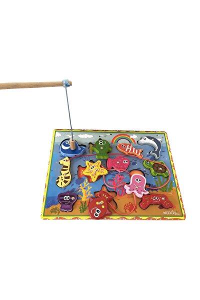 Ahşap Balık Tutma Oyunu 12li Ip Dizme Bultak Çocuk Oyuncak