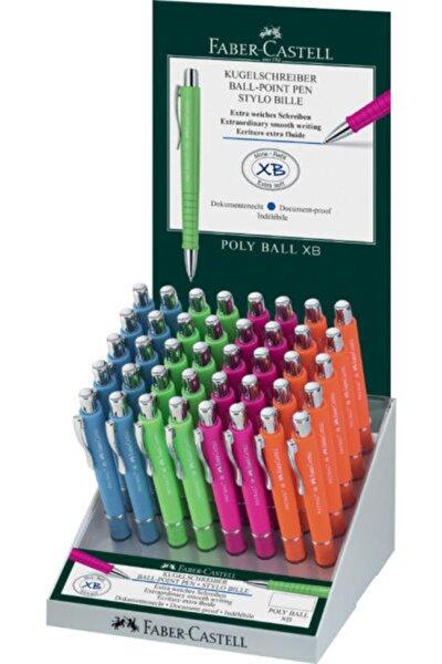 Faber-castell Tükenmez Kalem Poly Karışık Renk ( 40 Lı Stand ) 5081241141 (1 Paket 40 Adet)