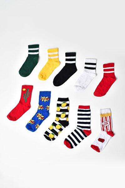 Renkli Çorap 10 Lu Set