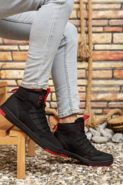 Siyah Kırmızı Erkek Sneaker Bot 00122262