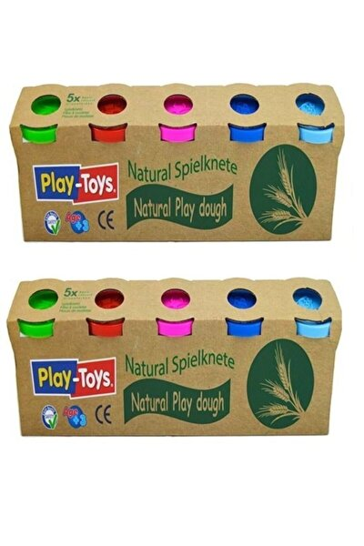 Playtoys Natural Doğal 5'li Oyun Hamuru-iki Adt 10x100 gr Natürel