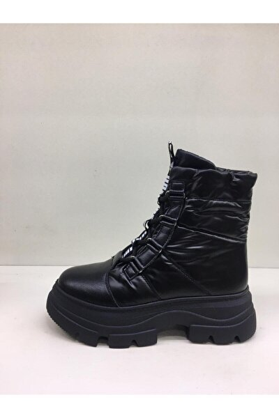 Siyah Bağcıklı Sneakers Bot 20k327-4