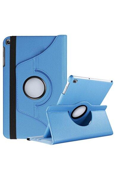 "Samsung Galaxy Tab S6 Lite Kılıf 10.4"" P610 P615 P617n 360 Dönebilen Standlı Kılıf Turkuaz"