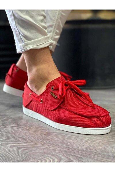 Mevsimlik Keten Ayakkabı 008 Kırmızı
