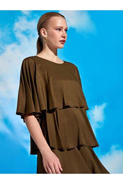 Kat Kat Volanlı Mini Elbise