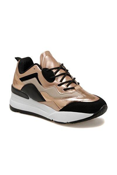 20k-007 Pudra Kadın Kalın Taban Sneaker Spor Ayakkabı