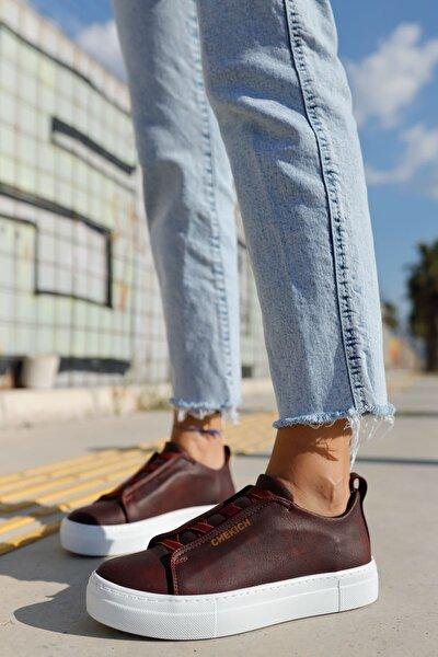 Ch013 Bt Kadın Ayakkabı Bordo