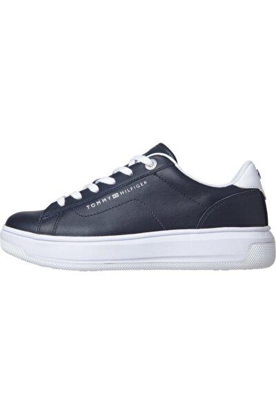 Kadın Mavi Sneaker Deri Tommy Hılfıger Cupsole FW0FW05009