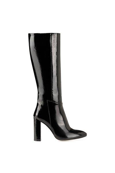 MIMA Siyah Kadın Ökçeli Çizme 100582033