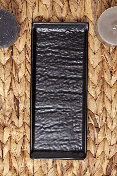 Kayık Doğaltaş 25 Cm Mat Siyah 956 A