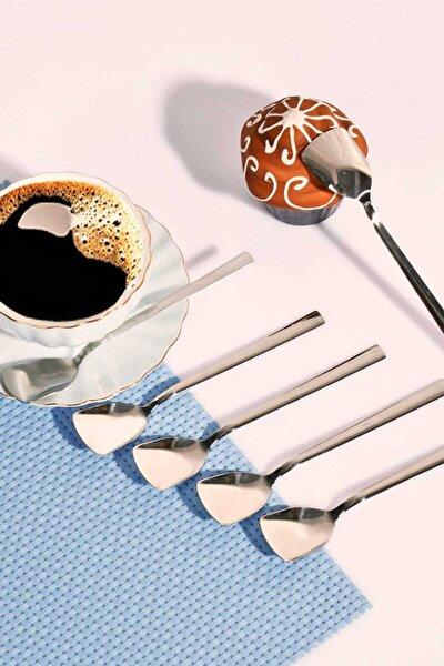 Paslanmaz Çelik 6'lı Lüx Dondurma Kaşığı