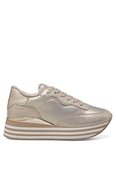 RONDA Altın Kadın Kalın Taban Sneaker Spor Ayakkabı 100524835