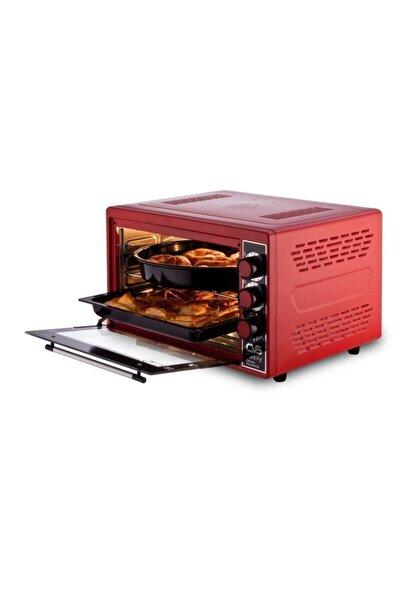 Dn 3907 Gurme Plus 45lt Fırın Kırmızı