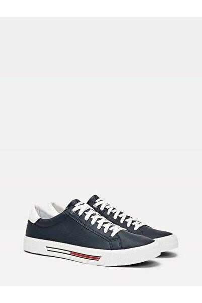 Erkek Mavi Sneaker Essentıal Deri Sneaker EM0EM00488
