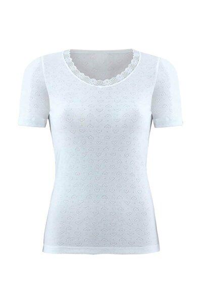 Kadın Beyaz Termal 1. Seviye T-shirt