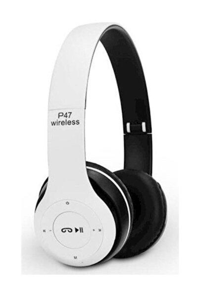 P47 Kulak Üstü Bluetooth Kulaklık 5.0 Beyaz