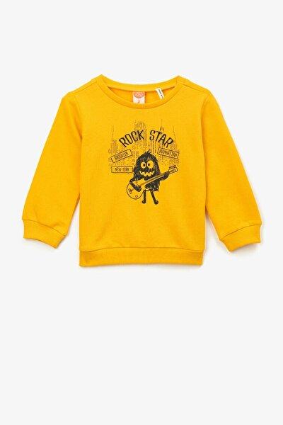 Erkek Bebek Sarı Sweatshirt 1kmb18365ok171